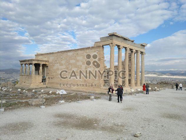 Touristes visitant l'Acropole d'Athènes - Free image #305709