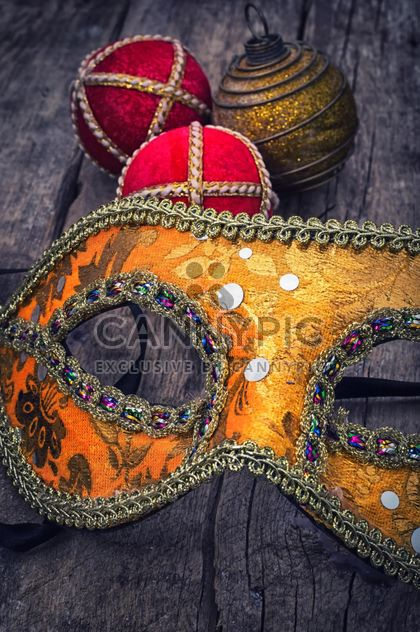 Mask, Santa Claus hat and Christmas decoration - Free image #305749