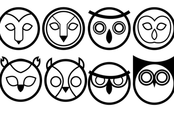 Owls Icon Vectors - Free vector #305779