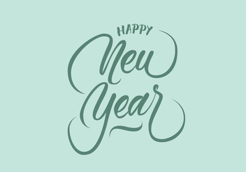 Happy New Year Vector Hand Lettering - Free vector #305789