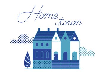 Free Home Town Vector - Free vector #305859