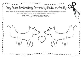 Foxy Foxes Embroidery Pattern - Free image #309079