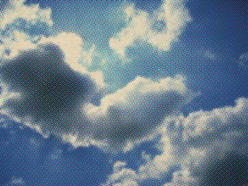 Retro Halftone Clouds - Free image #313249