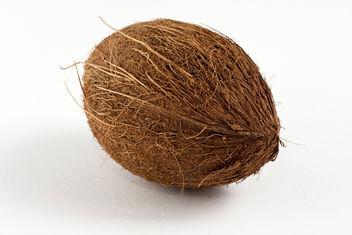 Oval shaped brown coconut - бесплатный image #313769