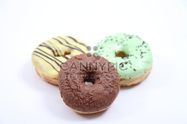 Donuts isolated on white - Free image #317379