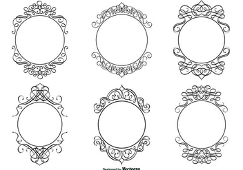 Decorative Calligraphic Frame Set - Free vector #317479