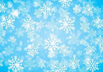 Winter Snowflake Background - vector #317509 gratis