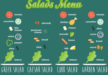 Salads Recipes - vector gratuit #317609