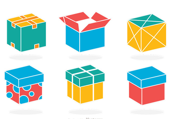 Colorful Box Vector - vector gratuit #317619