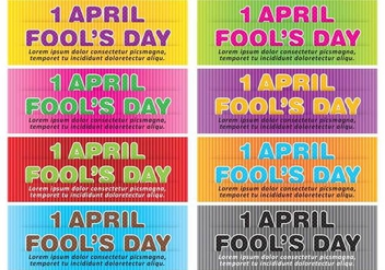 April Fools Banner Vectors - vector gratuit #317669