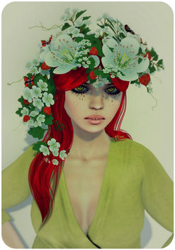 Flowers in her hair - image gratuit #318449