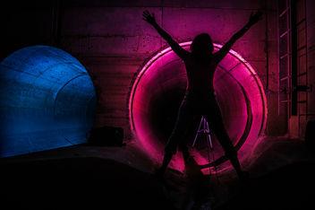 Pink & Blue Girl - image #318789 gratis