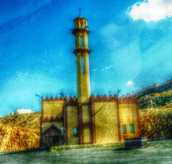 Mosque in the desert - image #319239 gratis
