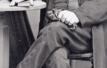 Detail of Victorian gentleman's trousers - image #321389 gratis