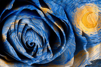 Starry Night Rose - Hybrid Oil & HDR - Free image #324019
