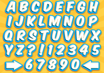Comic Style Alphabet Set - Free vector #326619