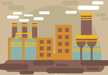 Simple Factory Landscape - vector gratuit #326709