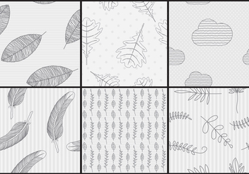 Hand Made Vector Patterns - Free vector #326719