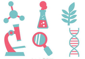 DNA Research Icon Vectors - Free vector #326789