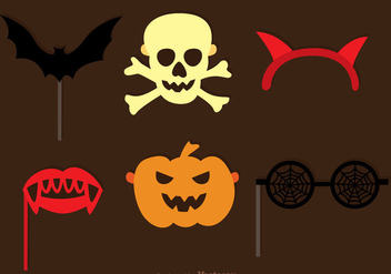 Halloween Photobooth Halloween Set - Kostenloses vector #326819
