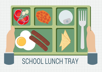 Free Hand Holding A School Lunch Tray Vector - Free vector #327039