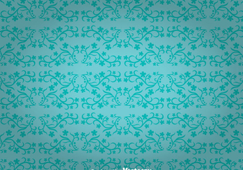 Blue Flowers Ornament Wall Tapestry - vector gratuit(e) #327129