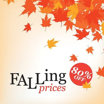 Falling Leaves Autumn Background - vector gratuit #327219
