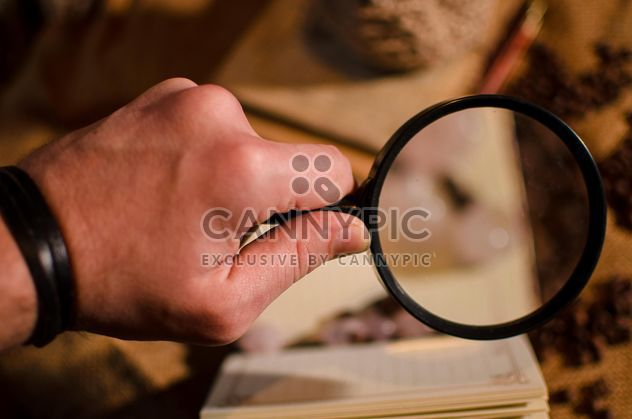Hand holding magnifying glass - Free image #327349