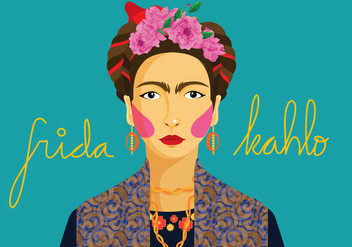 Frida Portrait Vector - Free vector #327409