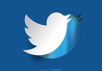 Free Paper Twitter Bird Vector - vector #327439 gratis