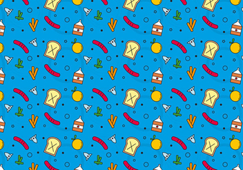 Free School Lunch Vector Pattern #7 - Free vector #327449