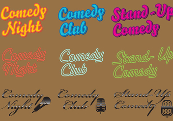 Comedy Logo Vectors - Free vector #327539