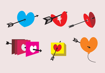 Arrow Through Heart Illustrations - Free vector #327549