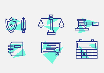 Free Law Office Vector Icons #10 - Free vector #327559