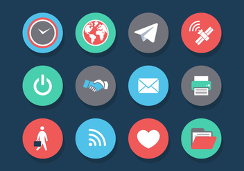 Vector Internet of Things Icon Set - vector gratuit #327569