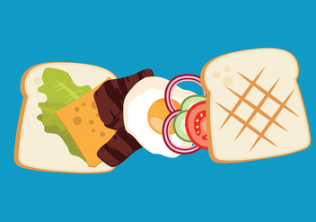 Vector Panini Sandwich - vector gratuit #327639