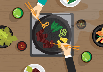 Vector Galbi Korean Food - vector #327669 gratis