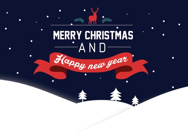 Happy New Year lettering Greeting Card, vector illustration - vector #327969 gratis