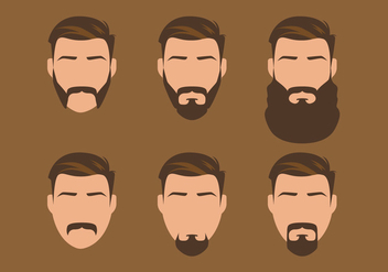 Vector Old Style Beard - Free vector #327979