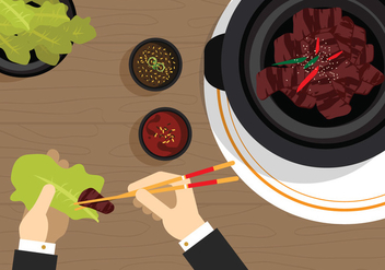 Vector Bulgogi Korean Food - Free vector #328009