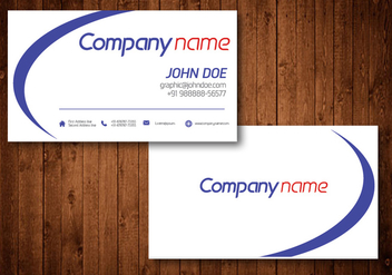 Business Card Vector Template - Free vector #328249