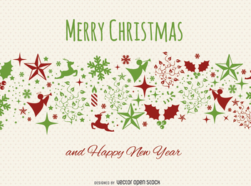 Christmas postcard - Free vector #328359