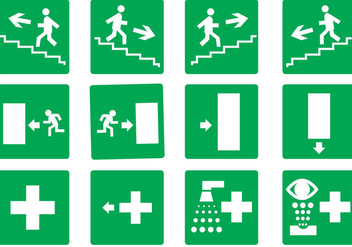 Free Emergency Exit Set Vector - Free vector #328699