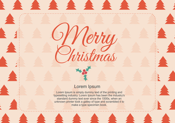 Christmas Greeting - vector gratuit #328719