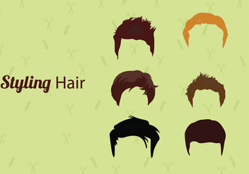 Hair Style Vectors - Free vector #328729