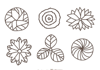 Plant Top View Hand Draw Icons - Free vector #328779