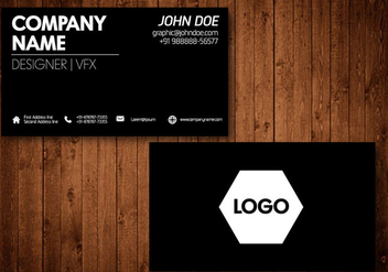Black Business Card Vector Template - Free vector #328839