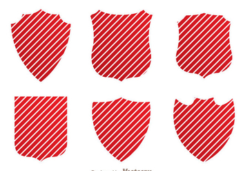 Shield Red Stripe Vectors - Free vector #328919