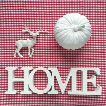 word home, white pumpkin and deer - Free image #329159