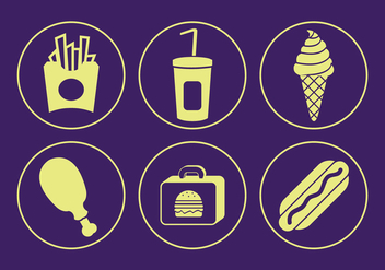 Food Vector Icons - Free vector #329359